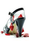 tła kobiety buta biel Zdjęcie Stock