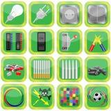 tła kolekci zieleni obrazki Obraz Stock