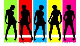 tła koloru mody parada Zdjęcia Royalty Free