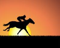 tła konia zmierzch Zdjęcia Royalty Free