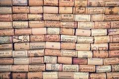 tła korków wino Fotografia Stock