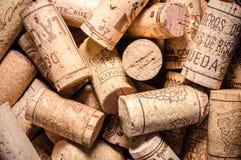tła korków wino Fotografia Royalty Free