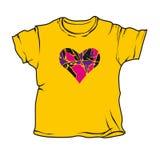 t koszulowy kolor żółty Zdjęcia Royalty Free