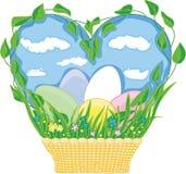 tła koszykowy Easter astronautyczny tekst Obrazy Stock