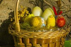 tła koszykowy Easter astronautyczny tekst Fotografia Royalty Free