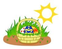 tła koszykowy Easter astronautyczny tekst royalty ilustracja