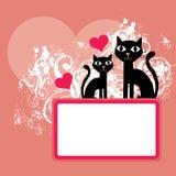 tła kotów valentine Zdjęcie Royalty Free