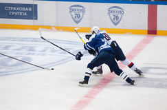 T Kubalik &#x28 ; 81&#x29 ; contre D Tarasov &#x28 ; 79&#x29 ; Images stock