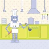 tła kucharza odosobniony kuchenny biel Fotografia Stock