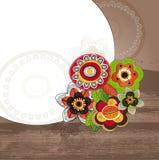 tła kwiatów rama Obraz Stock