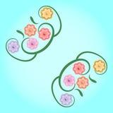 tła kwiatu czerepu ilustraci rocznik zdjęcie royalty free