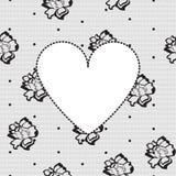 tła kwiecista serca koronka Zdjęcie Stock
