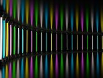 T.L.-buizen die van de verlichtings de lichte lamp in donkere ruimte gloeien 3d Royalty-vrije Illustratie