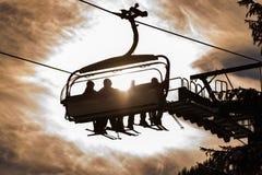 T?l?si?ge de ski, 8 si?ges Hochwurzen I dans Planai et Hochwurzen - coeur de ski de la r?gion de Schladming-Dachstein, Styrie, Au images stock