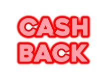 T.L.-verlichting cashback tekst royalty-vrije illustratie