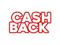 T.L.-verlichting cashback tekst vector illustratie
