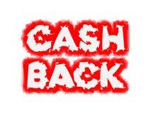 T.L.-verlichting cashback tekst stock illustratie
