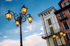 tła lampowa nieba ulica Zdjęcie Royalty Free