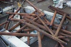 Tôle cassée et rouillée Photo stock