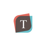 T letter icon retro logo design. Vintage company sign vector des Royalty Free Stock Photography