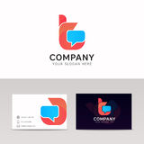 T letter logo icon communication sign vector design. T logo icon communication sign vector design Stock Photo