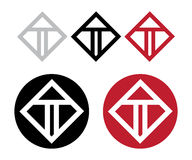 T Logo Set Royalty Free Stock Photo
