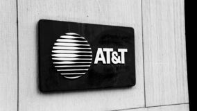 AT&T Logo on the side of a building stock photography