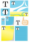 T Logo Twins Brother Your Best Choice_eps Stock Images