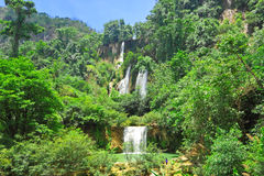 T Lor Su waterfall,Um Phang,Tak,Thailand Royalty Free Stock Photos