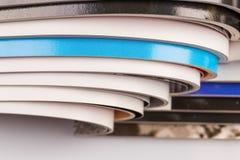 tła magazynów sterty biel Fotografia Stock
