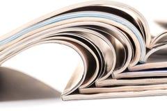 tła magazynów sterty biel Zdjęcia Royalty Free