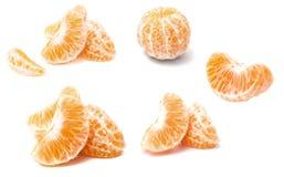 tła mandarynki sekci segmentu biel Fotografia Stock