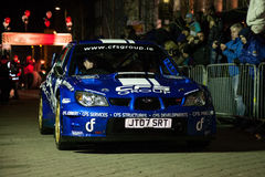T.McNulty with Subaru WRC Stock Image