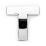 T - Metallzeichen Lizenzfreies Stockbild