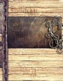 tła metalu talerza drewno Zdjęcie Royalty Free