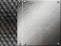 tła metalu talerza srebro Obraz Stock