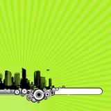 tła miasta zieleń royalty ilustracja