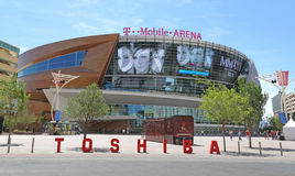 T-Mobile Arena. The T-Mobile arena in Las Vegas Stock Photo