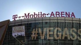 T-Mobile-Arena in Las Vegas bij Toshiba-Plein - de V.S. 2017 stock footage