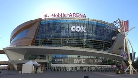 T-Mobile-Arena in Las Vegas bij Toshiba-Plein - de V.S. 2017 stock video