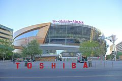 The T-Mobile arena in Las Vegas Royalty Free Stock Photos
