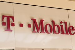 T-Mobile de V.S., een dochteronderneming van T-Mobile International AG, is één van de vier nationale draadloze dragers royalty-vrije stock fotografie