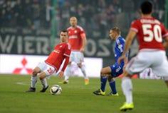 T-Mobile Extra League Polish Premier Football League Wisla Krakow - Ruch Chorzow Royalty Free Stock Image