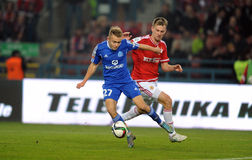 T-Mobile Extra League Polish Premier Football League Wisla Krakow - Ruch Chorzow Royalty Free Stock Images