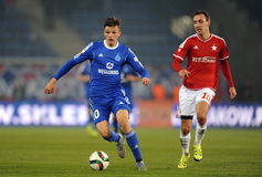 T-Mobile Extra League Polish Premier Football League Wisla Krakow - Ruch Chorzow Royalty Free Stock Photo