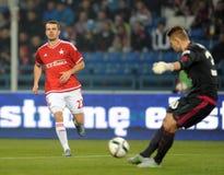 T-Mobile Extra League Polish Premier Football League Wisla Krakow - Ruch Chorzow Stock Image