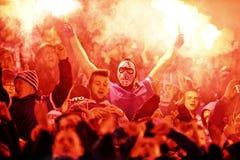 T-Mobile liga Ekstra połysku Najważniejszy liga footballowa Wisla Krakow, Ruch Chorzow - Zdjęcie Stock