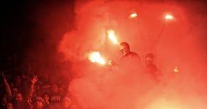 T-Mobile liga Ekstra połysku Najważniejszy liga footballowa Wisla Krakow, Ruch Chorzow - Obraz Royalty Free