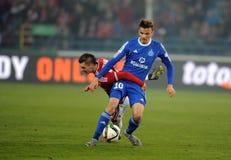 T-Mobile liga Ekstra połysku Najważniejszy liga footballowa Wisla Krakow, Ruch Chorzow - Zdjęcia Stock