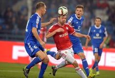 T-Mobile liga Ekstra połysku Najważniejszy liga footballowa Wisla Krakow, Ruch Chorzow - Fotografia Stock
